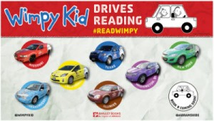 Wimpy Kid Drives Reading